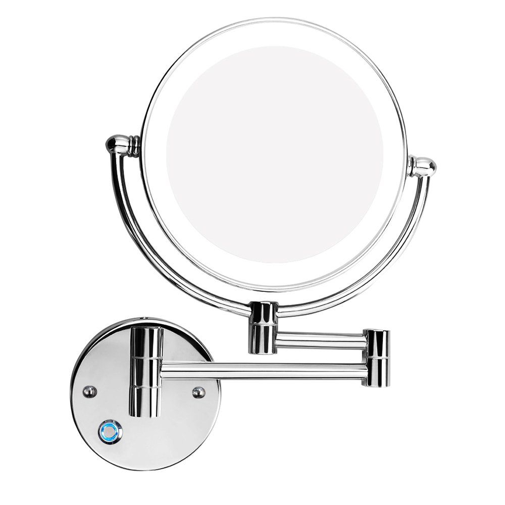 2020 Cosmetic Wall Mirrors With Regard To Gemrise Wall Mounted Makeup Mirror Makeup Mirror Led Wall Mount (View 11 of 20)