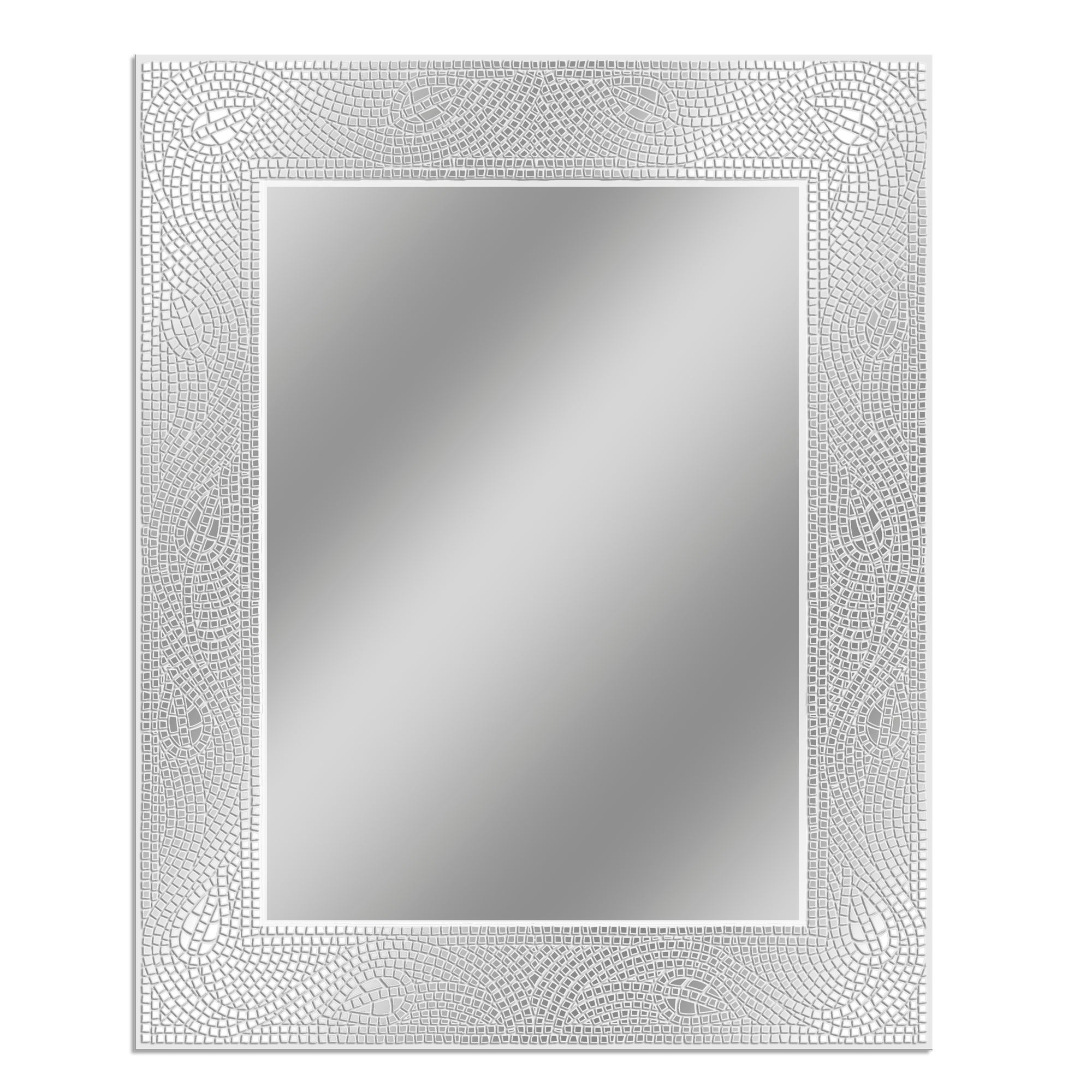 2020 Crystal Wall Mirrors For Headwest Crystal Mosaic Etched Wall Mirror – Off White – 24 X  (View 3 of 20)