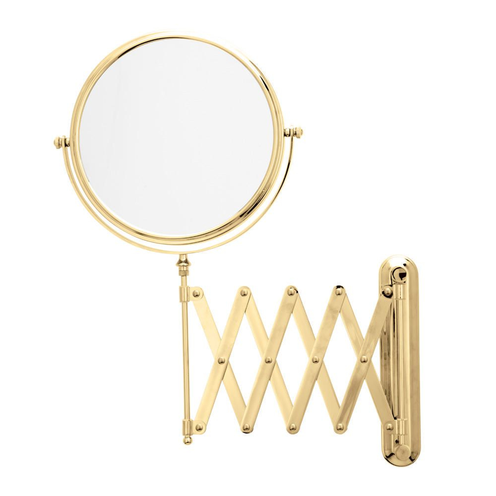 2020 Danielle Magnifying Extendable Wall Mount Mirror – Gold Plated With Extendable Wall Mirrors (View 1 of 20)