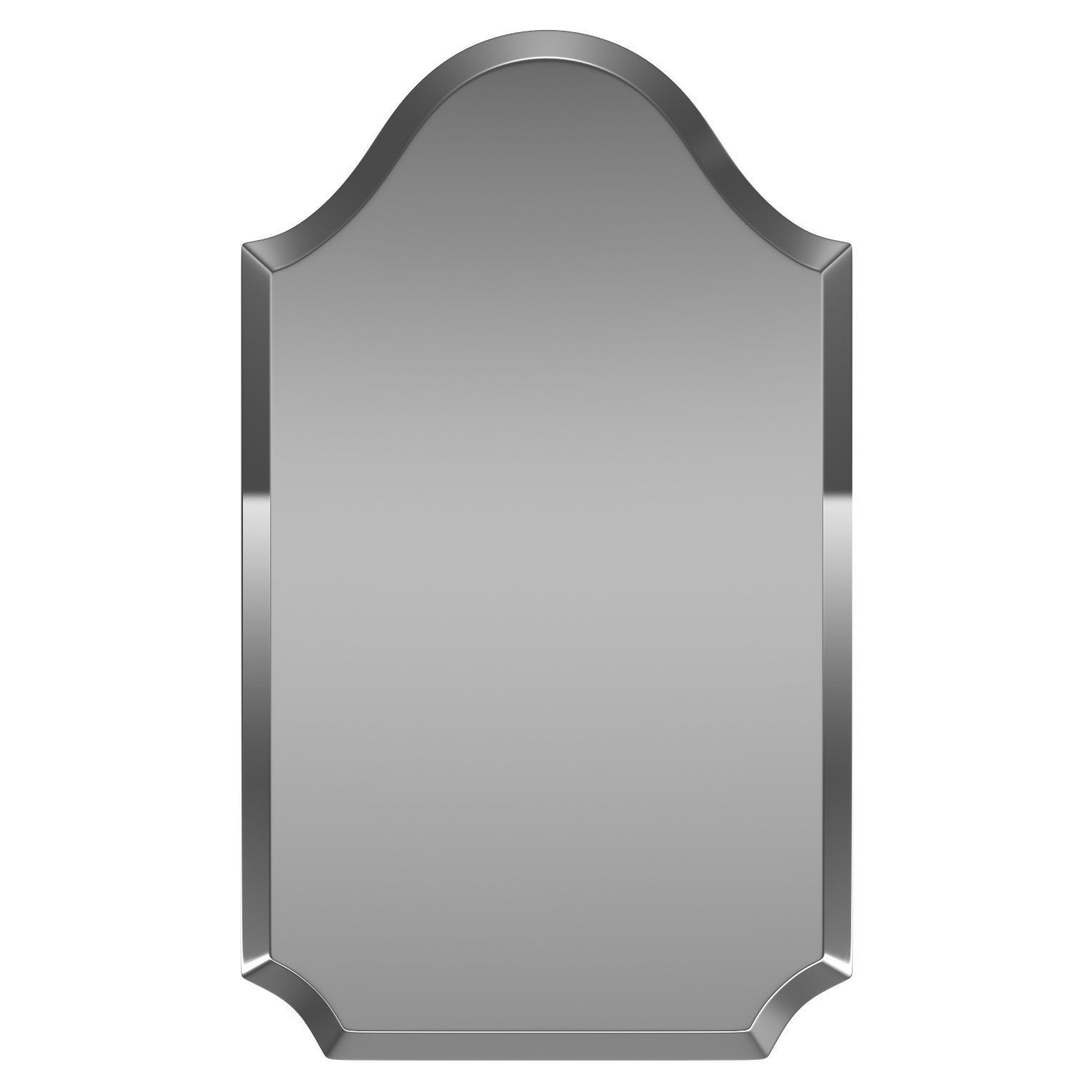2020 Dariel Tall Arched Scalloped Wall Mirror Wrlo (View 2 of 20)