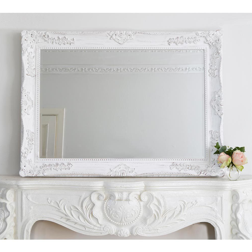 2020 Emily Mirror In White. French Bedroom White Mirror (View 18 of 20)