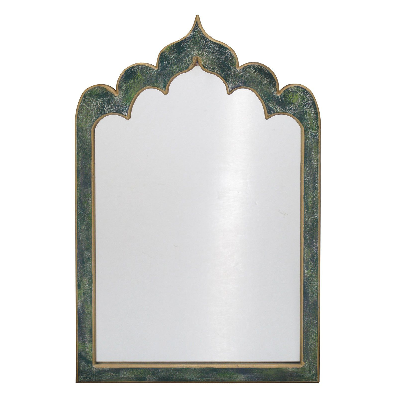 2020 Hussain Tile Accent Wall Mirrors For Benzara Wonderful Wood Frame Wall Mirror – 25.2W X 39.5H In (View 12 of 20)
