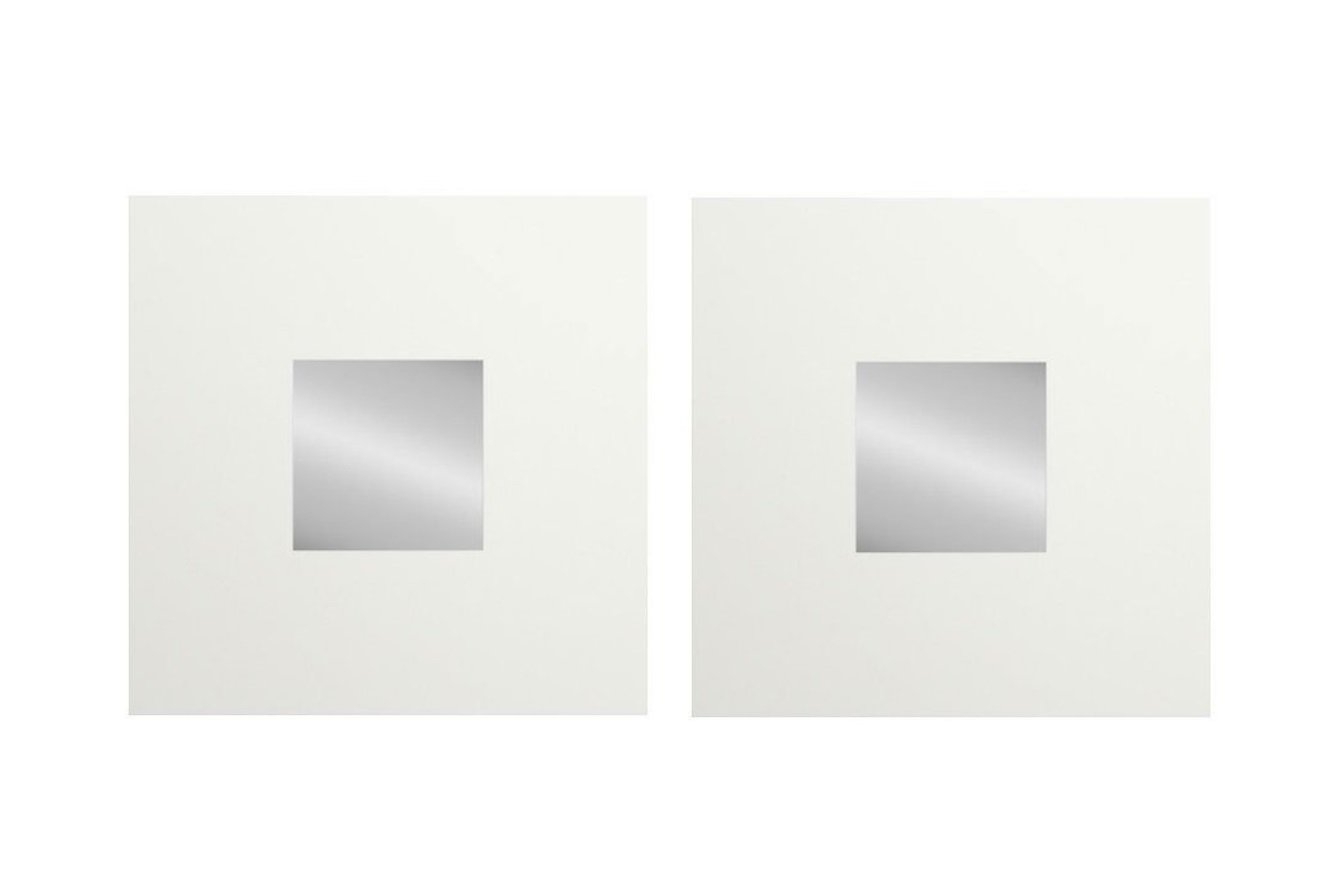 2020 Ikea Wall Mirrors Pertaining To Amazon: Ikea Malma White Decorative Wall Mirror Wood (2 Mirrors (View 10 of 20)