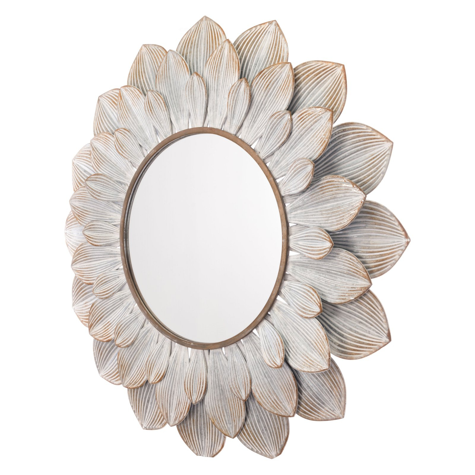 2020 Knott Modern & Contemporary Accent Mirrors Pertaining To Zuo Modern Contemporary Distressed Brown Flora Mirror – 39W X (View 15 of 20)