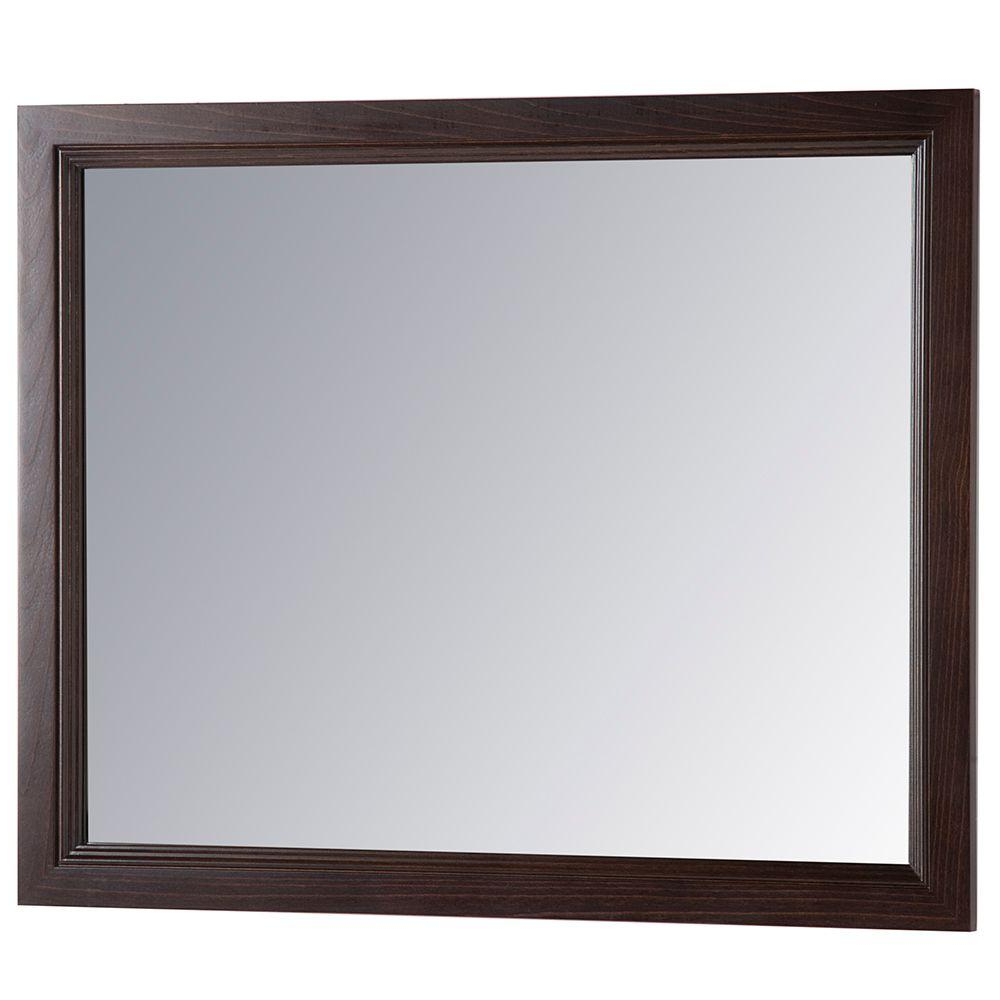 2020 Large Wood Framed Wall Mirrors Regarding Home Decorators Collection Teasian 26 In. X 31 In (View 8 of 20)