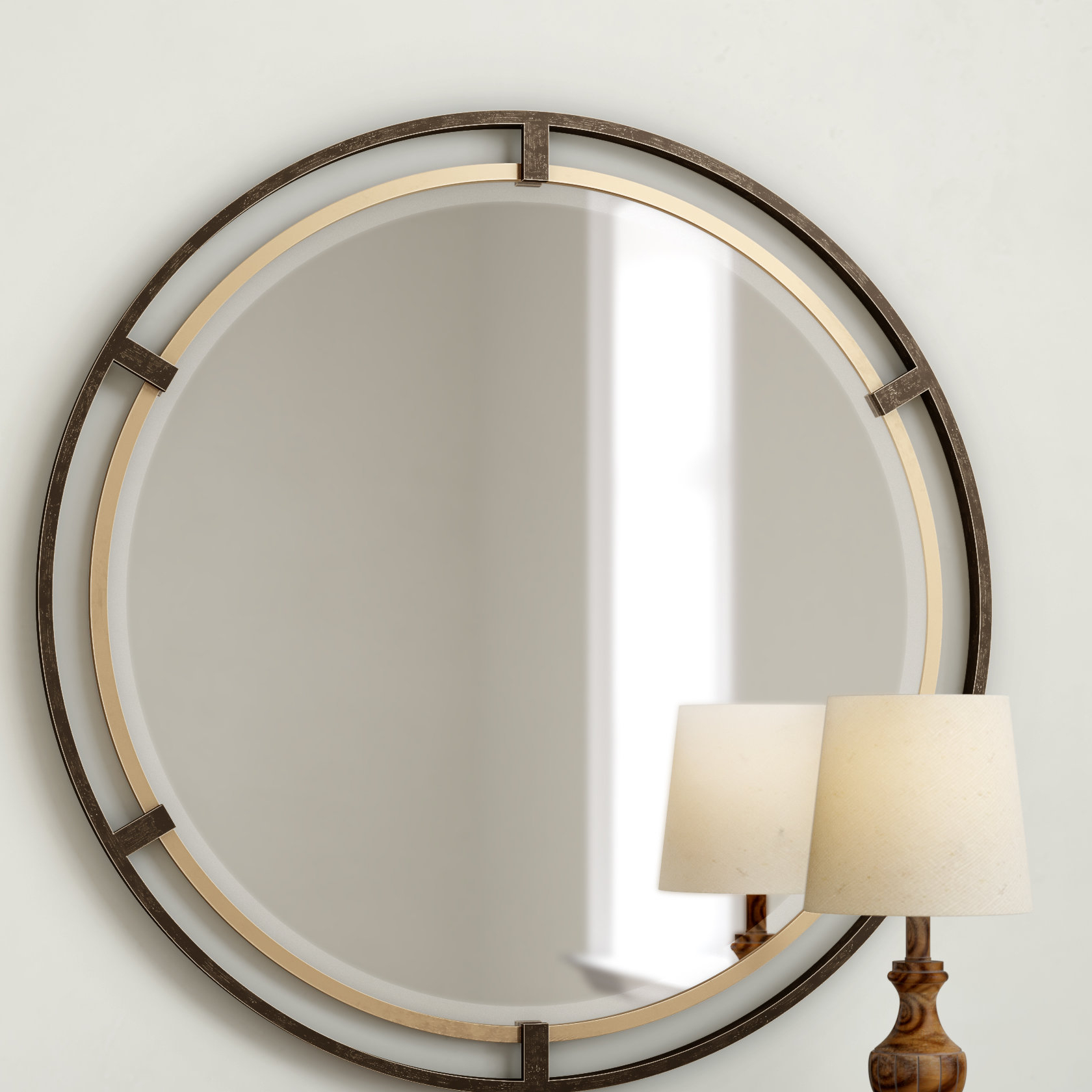 2020 Laurel Foundry Modern & Contemporary Accent Mirrors Pertaining To Pia Carrizo Modern & Contemporary Accent Mirror (View 14 of 20)