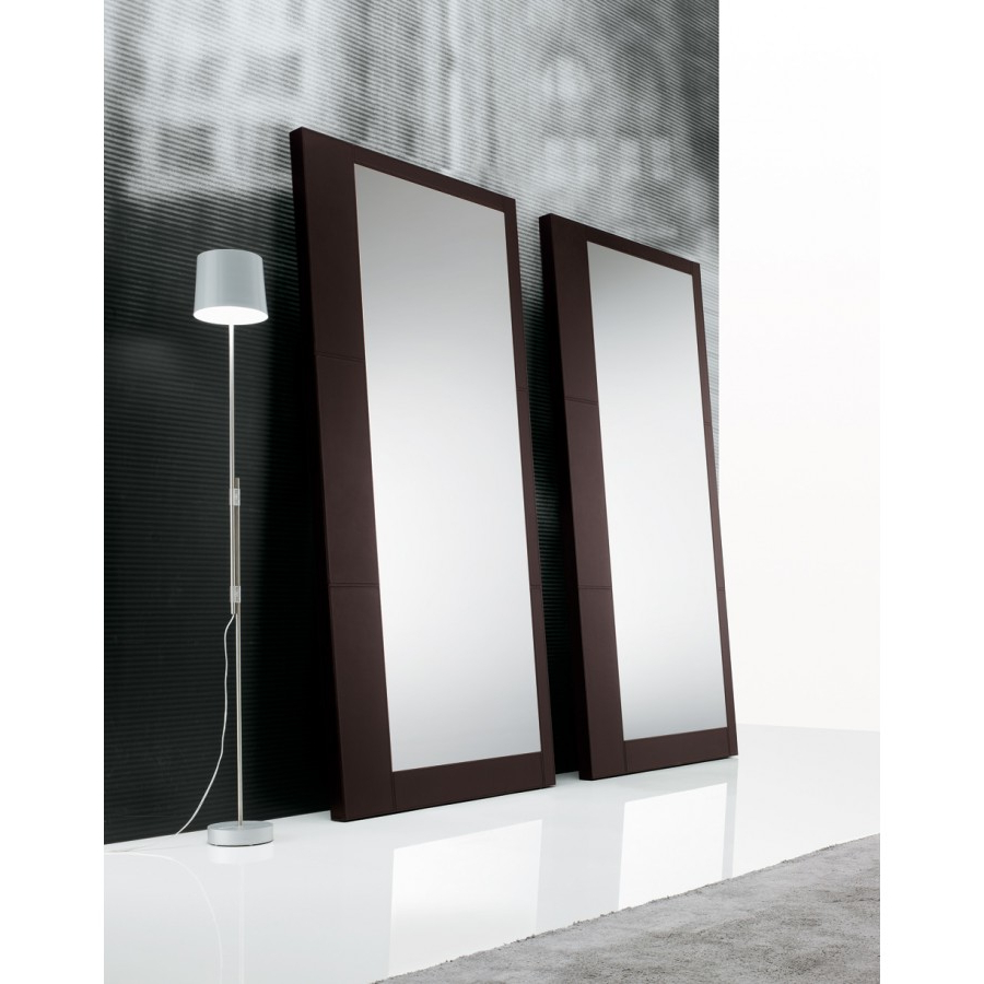 2020 Leather Wall Mirrors With Regard To Ego Wall Mirror Thick Leather Covered Framepoliform, Designcr&s  Poliform (View 3 of 20)