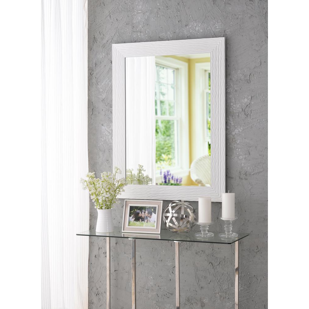 2020 Lightweight Wall Mirrors Intended For Lizette Square White Decorative Wall Mirror (View 5 of 20)