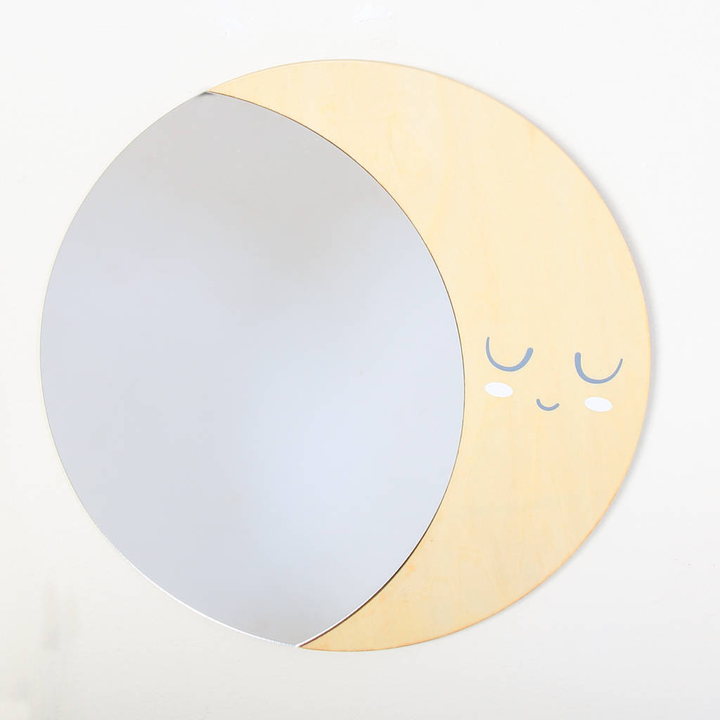 2020 Luna Children's Room Moon Wall Mirror With Regard To Childrens Wall Mirrors (View 9 of 20)
