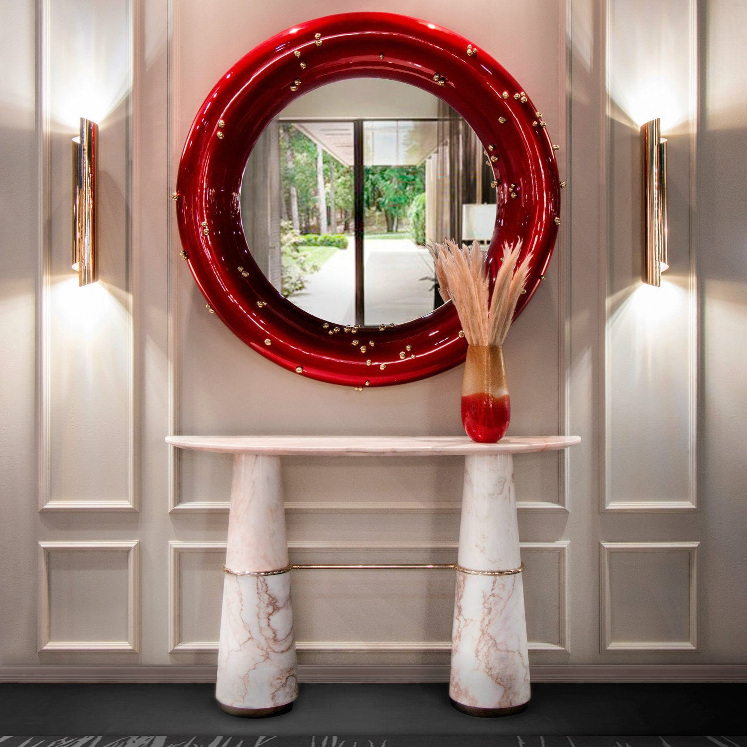 2020 Red Wall Mirrors In Top 10 Wall Mirrors That You Will Covet (View 1 of 20)