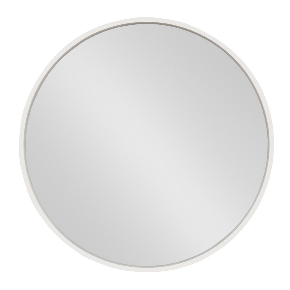 2020 Round White Wall Mirrors Within Kate And Laurel Travis Round White Wall Mirror 213123 – The (View 13 of 20)