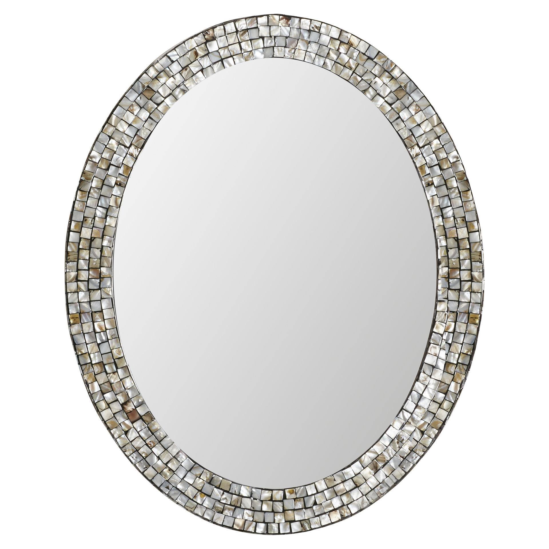 2020 Sajish Oval Crystal Wall Mirrors Regarding Dawson Wall Mirror (View 14 of 20)