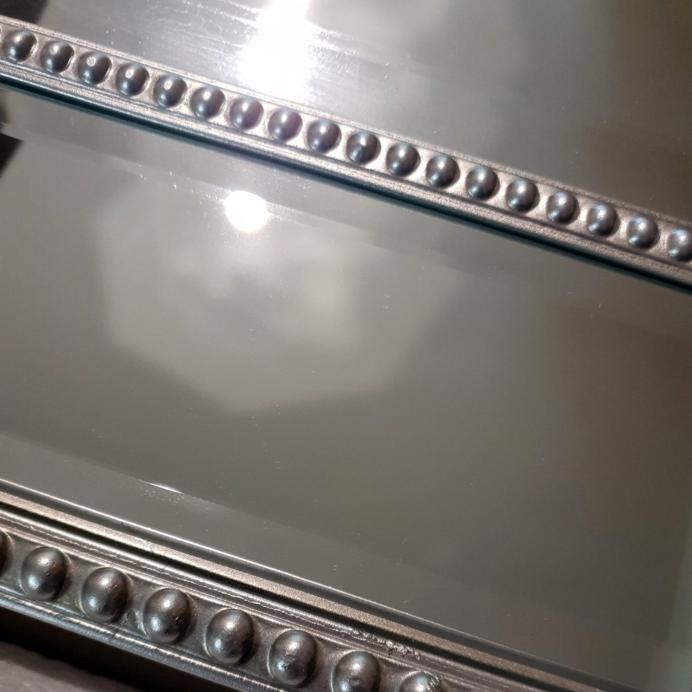 2020 Silver Beaded Hex Wall Mirror 78Cm Within Silver Beaded Wall Mirrors (Gallery 3 of 20)