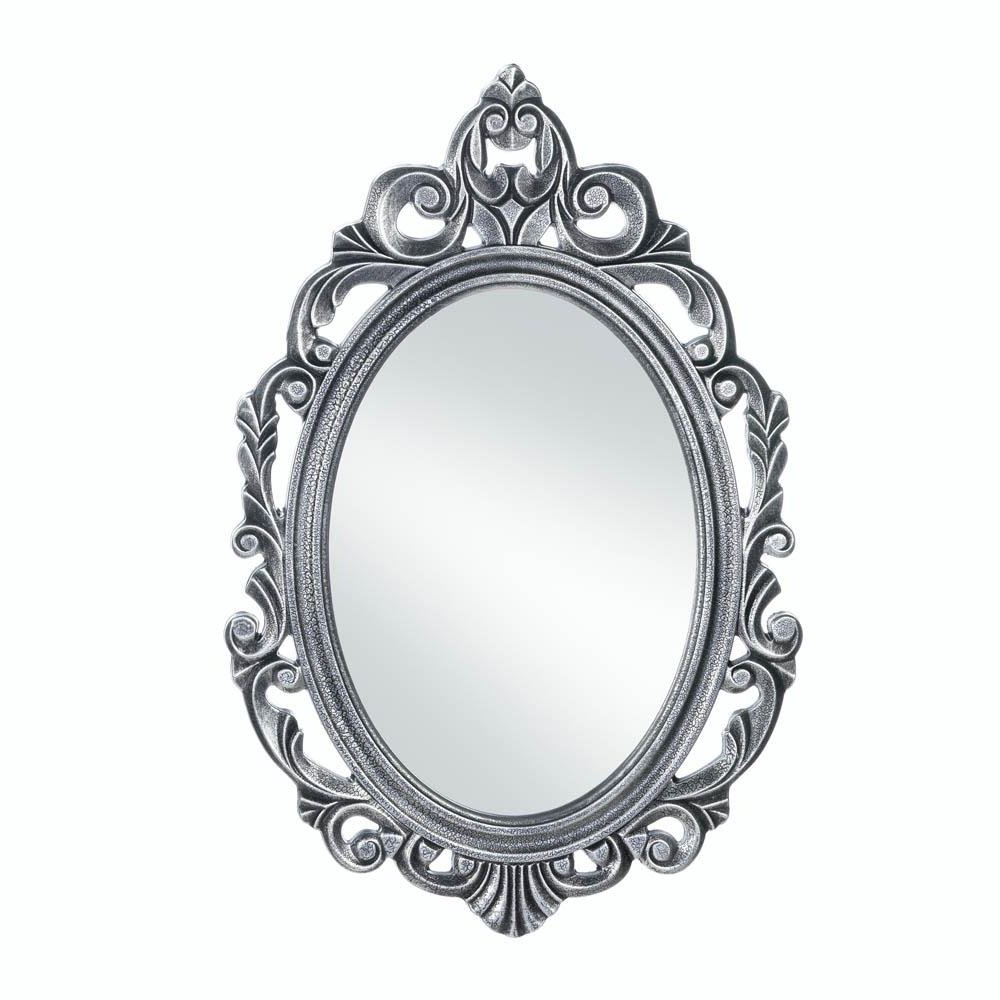 2020 Silver Oval Wall Mirrors Regarding Amazon: Accent Plus Bathroom Wall Mirrors, Decorative Oval (View 1 of 20)
