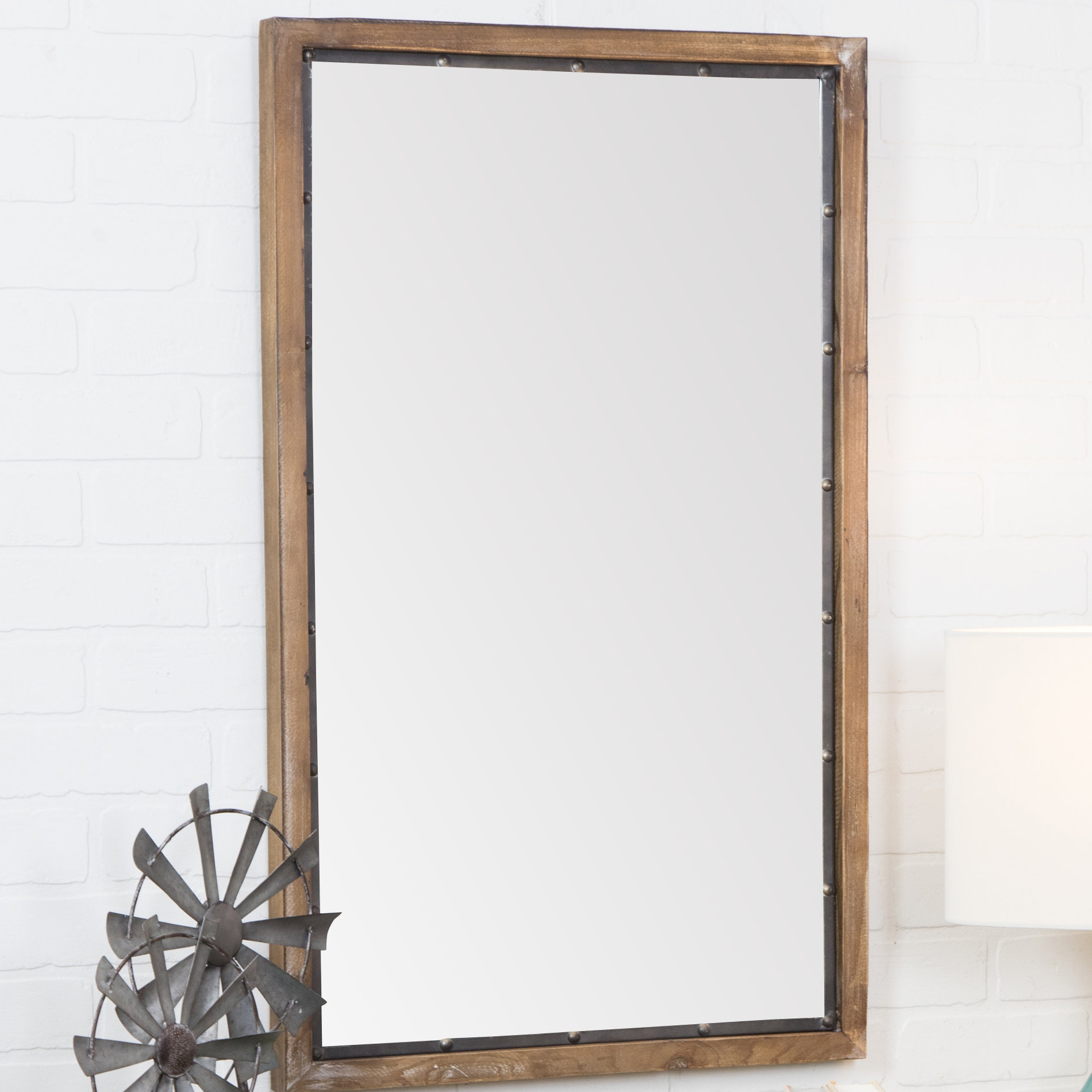 2020 Stamey Wall Mirrors Pertaining To Verduzco Rustic Wood Wall Mirror (View 11 of 20)