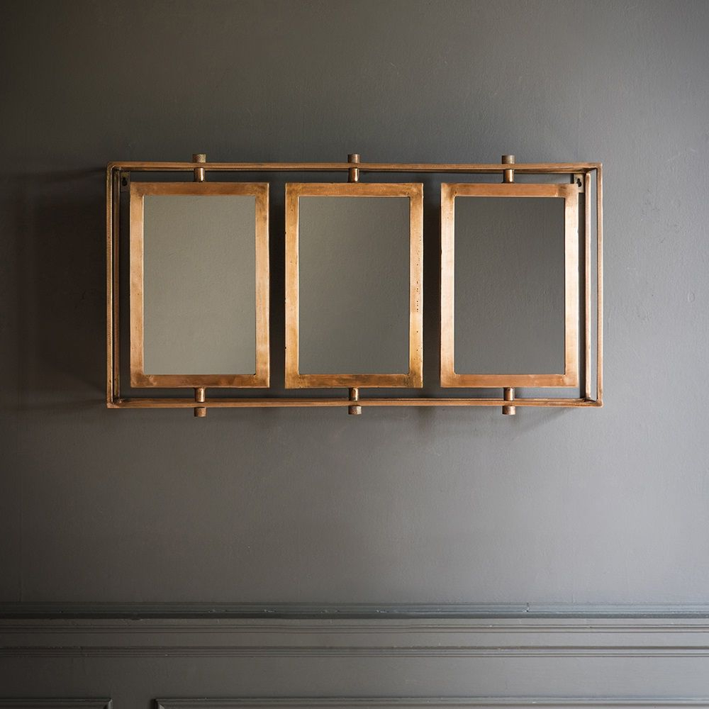 2020 Standard Wall Mirrors Within Tribeca Triple Wall Mirror In Copper (View 10 of 20)