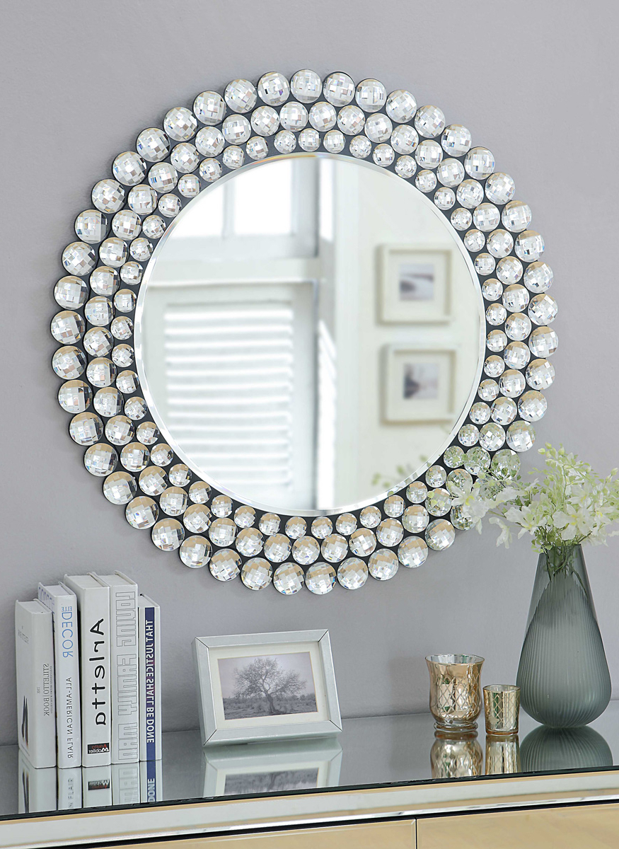 2020 Sydney Large Wall Mirrors Intended For Selena Crystal Surround Wall Mirror Contemporary Style (View 2 of 20)