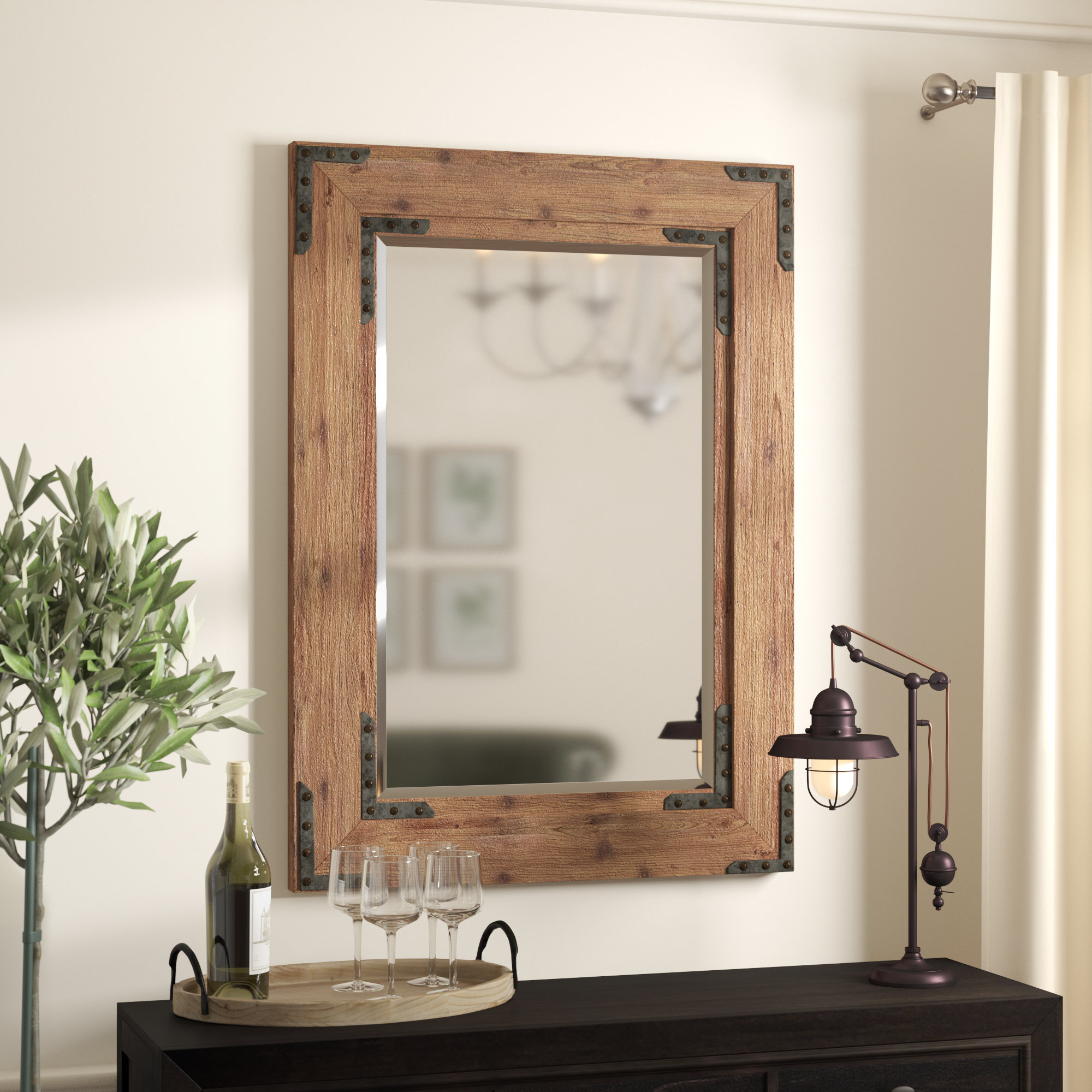 2020 Tifton Traditional Beveled Accent Mirror Inside Berinhard Accent Mirrors (View 15 of 20)