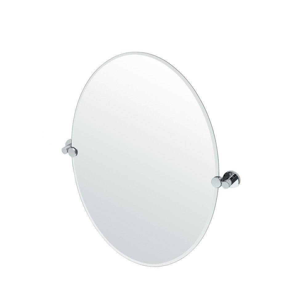 2020 Tilting Wall Mirrors For Gatco 4689 Channel Oval Beveled Tilting Wall Mirror – Chrome (View 17 of 20)