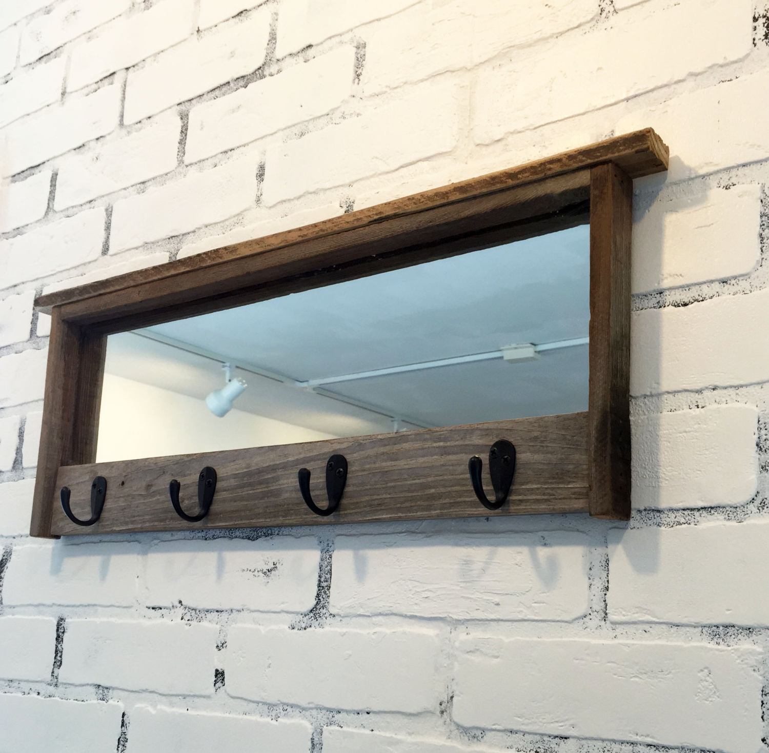 2020 Wall Mirrors With Hooks And Shelf Intended For Decorating: Decorative Entryway Mirror With Hooks For Antique Look (View 14 of 20)