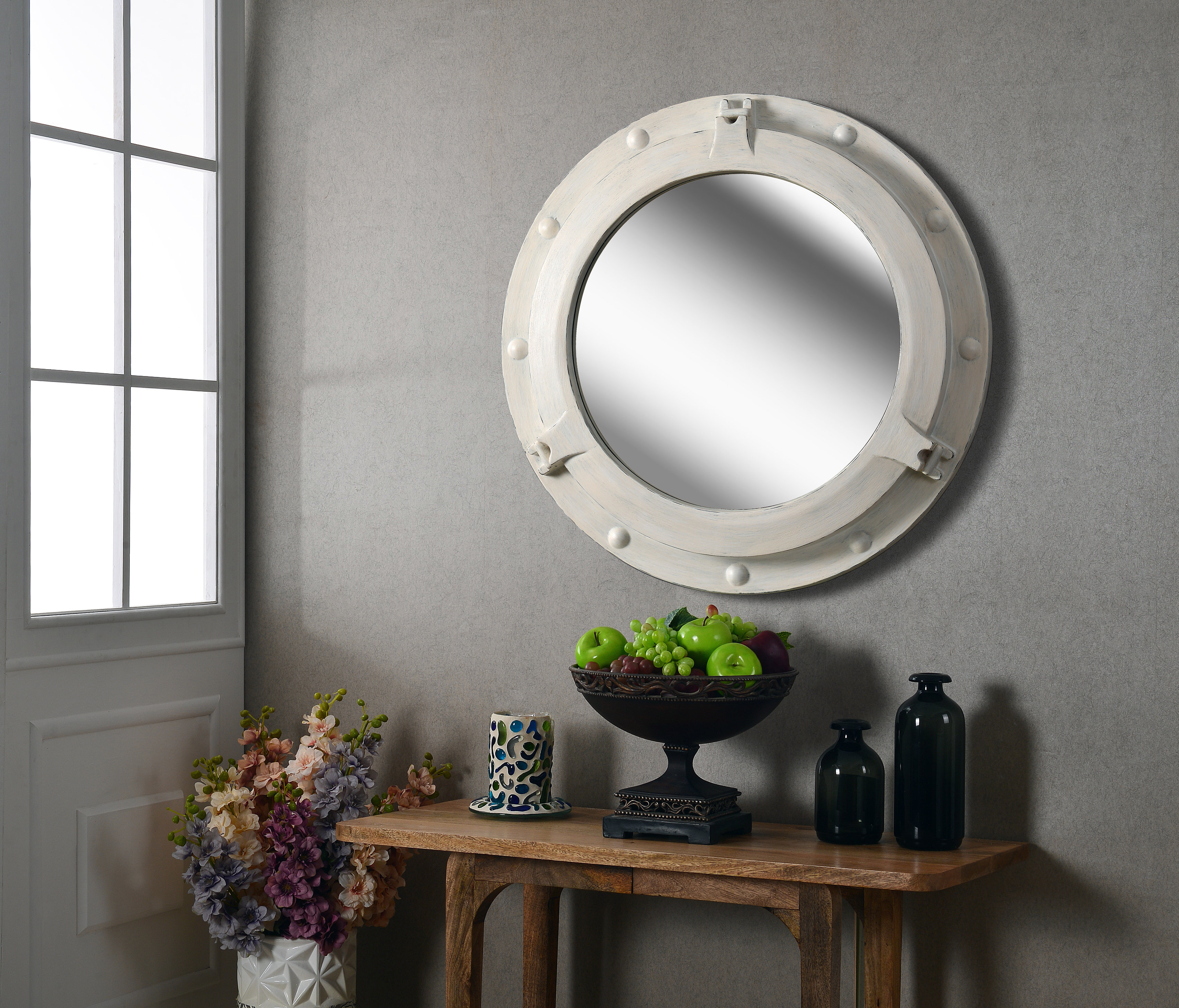 2020 White Round Wall Mirrors For Coastal Round Wall Mirror (View 9 of 20)