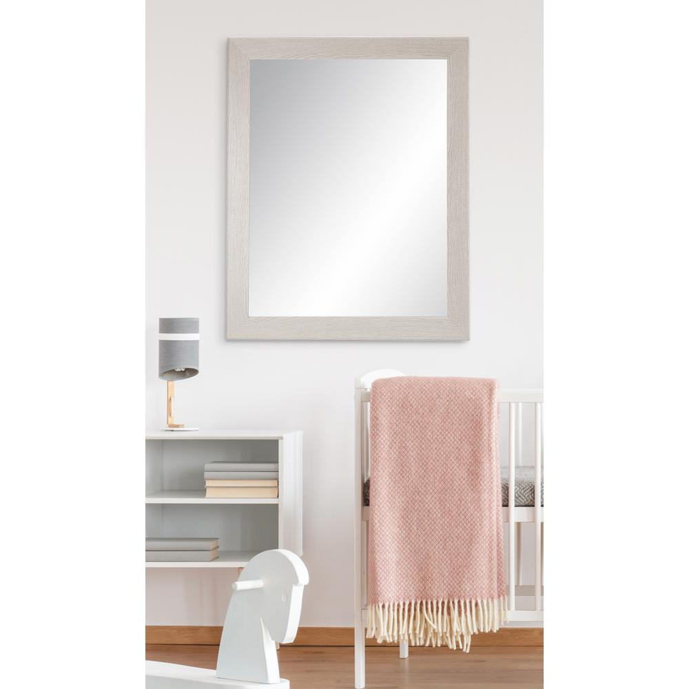 21.5 In. X 32 In. Gray Wood Grain Accent Mirror Within Preferred American Made Accent Wall Mirrors (Gallery 17 of 20)
