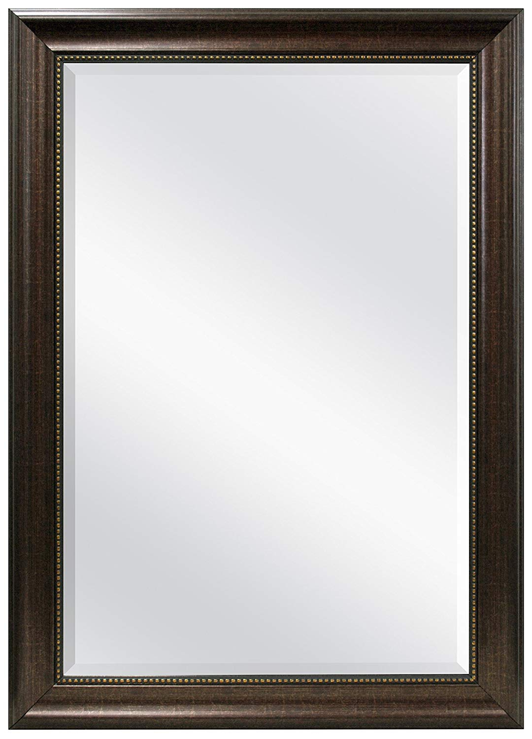 24 X 36 Wall Mirrors For Famous Mcs 24X36 Inch Beaded Rectangular Wall Mirror, 30X42 Inch Overall Size,  Bronze (20677) (View 2 of 20)