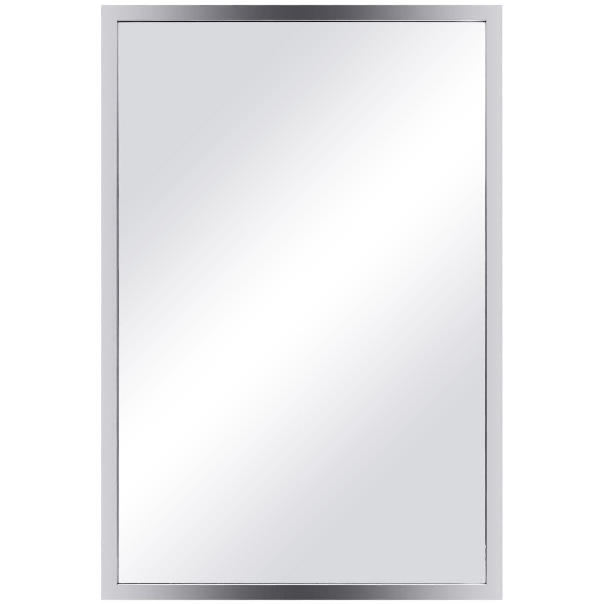 24 X 36 Wall Mirrors For Well Known Costway 24'' X 36'' Large Rectangular Wall Mirror Stainless Steel Frame  Floating Glass (View 4 of 20)