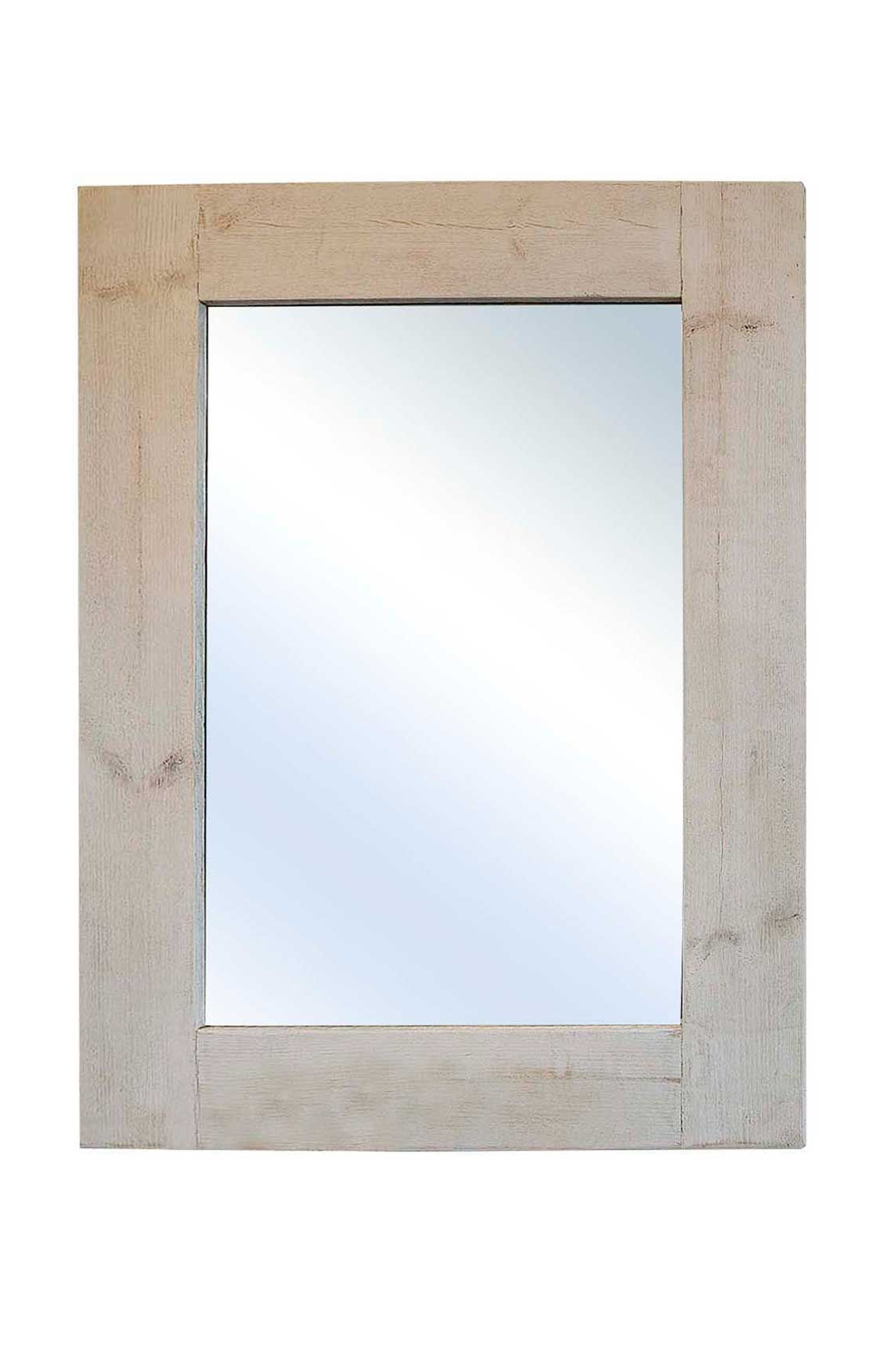 24 X 36 Wall Mirrors Intended For Most Popular Madrid Light Rustic Wooden Wall Mirror 24X (View 5 of 20)