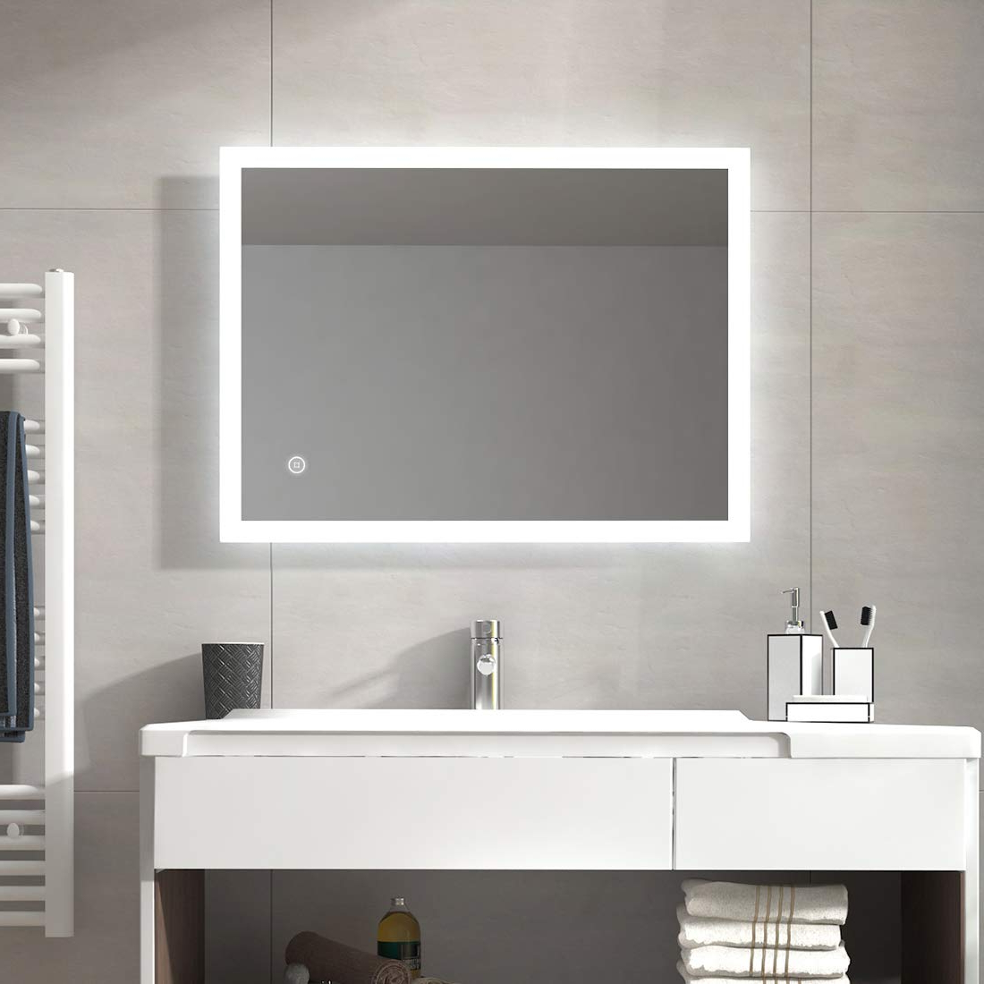 24''x32'' Wall Mirrors Cold White With Inside Lighted Wall Mirrors For Bathrooms (View 7 of 20)
