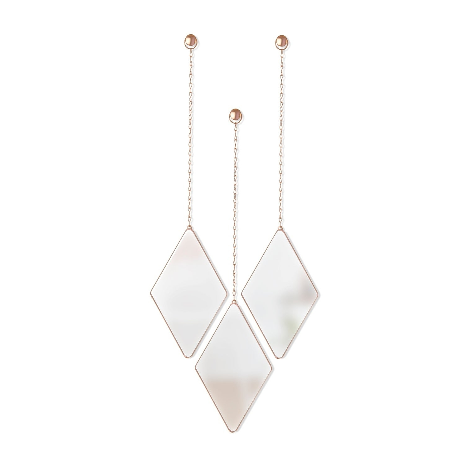 3 Piece Dima Hanging Modern & Contemporary Mirror Sets Intended For Current Umbra Dima Mirror (Set Of 3) (Gallery 10 of 20)