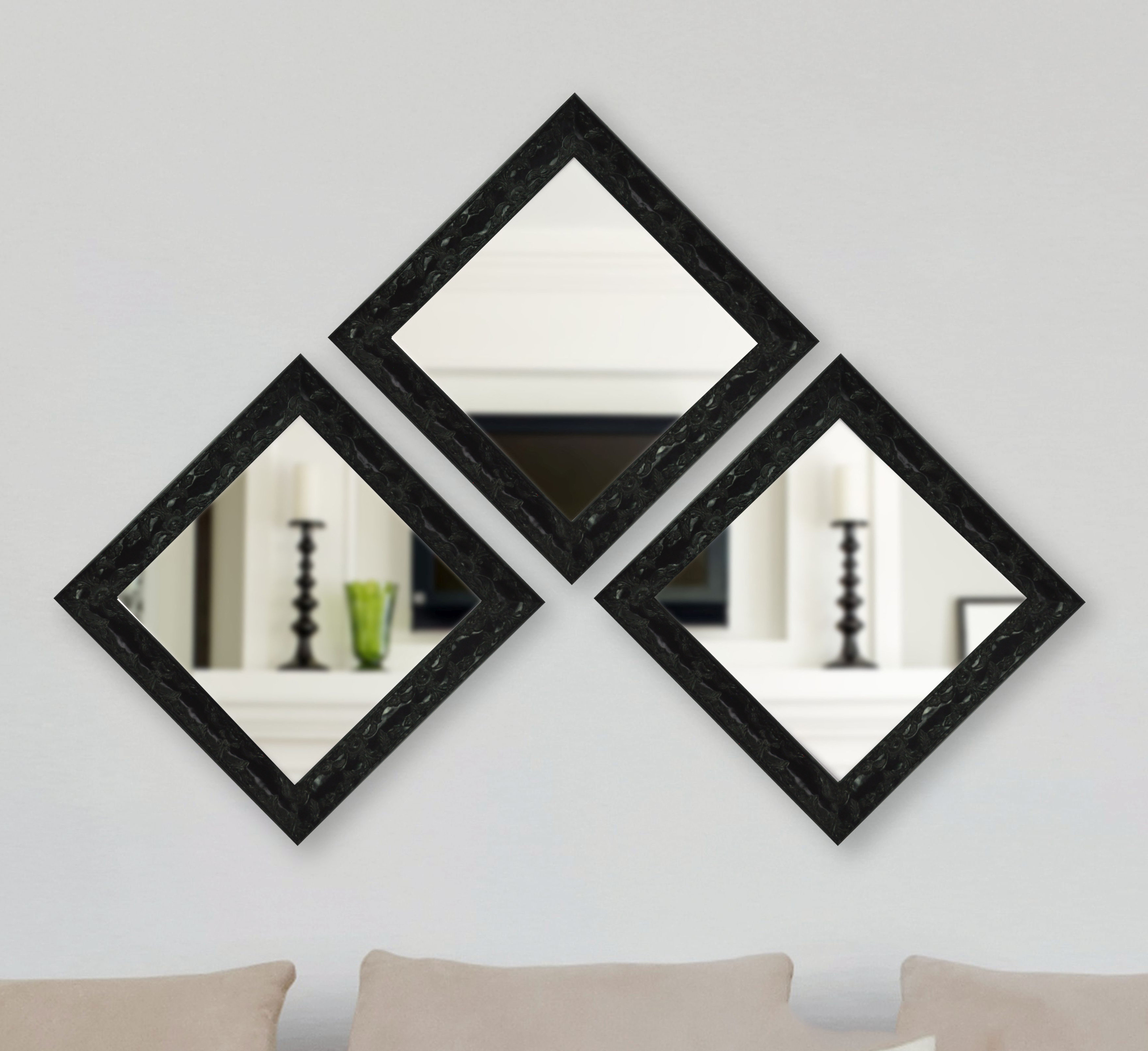 3 Piece Odyssey Mirror Set Intended For 2020 Square Wall Mirror Sets (Gallery 18 of 20)