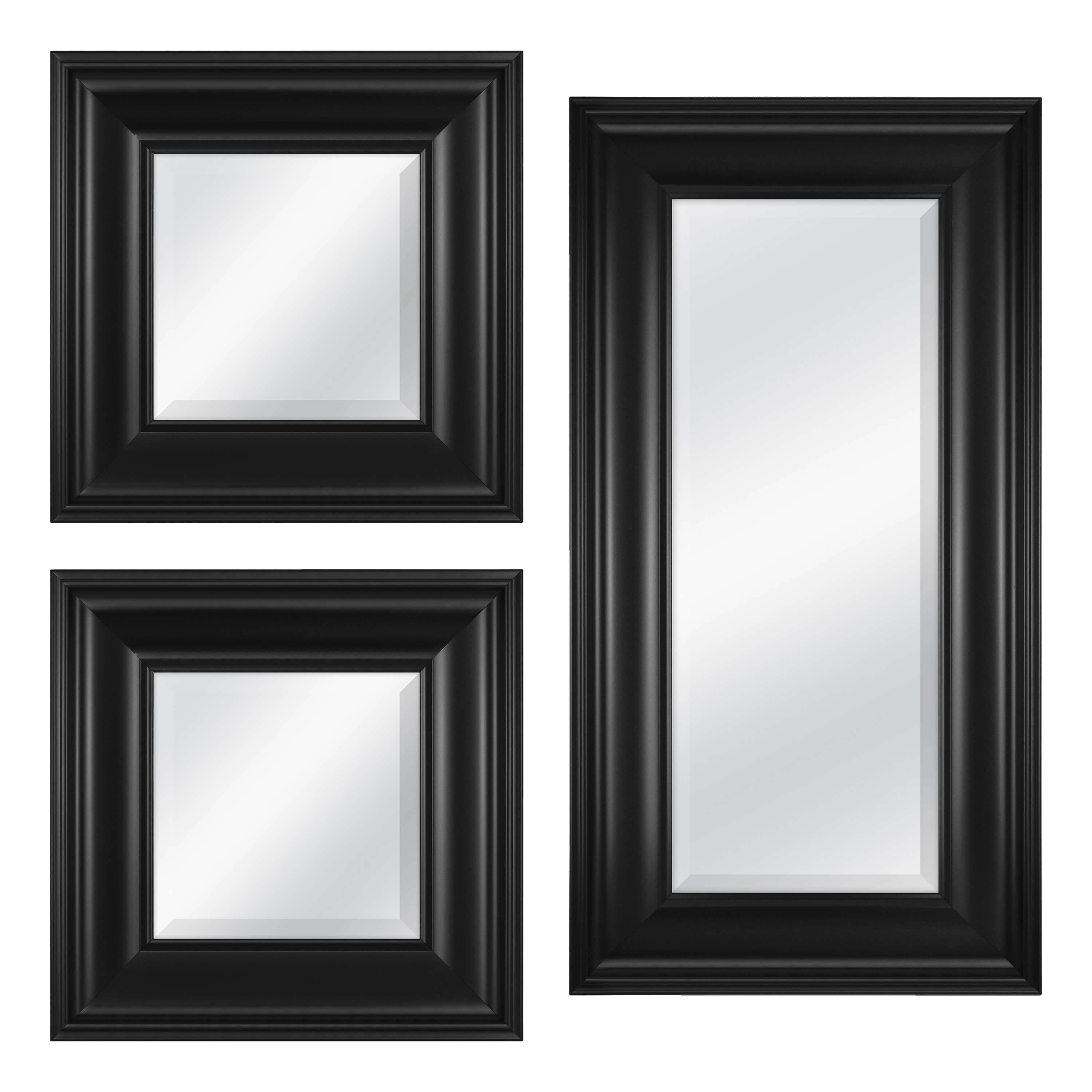 3 Piece Rectangle Mirror Set (View 16 of 20)