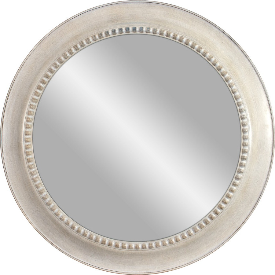 30 In L X 30 In W Round White Polished Wall Mirror At Lowes Pertaining To 2020 White Round Wall Mirrors (View 13 of 20)