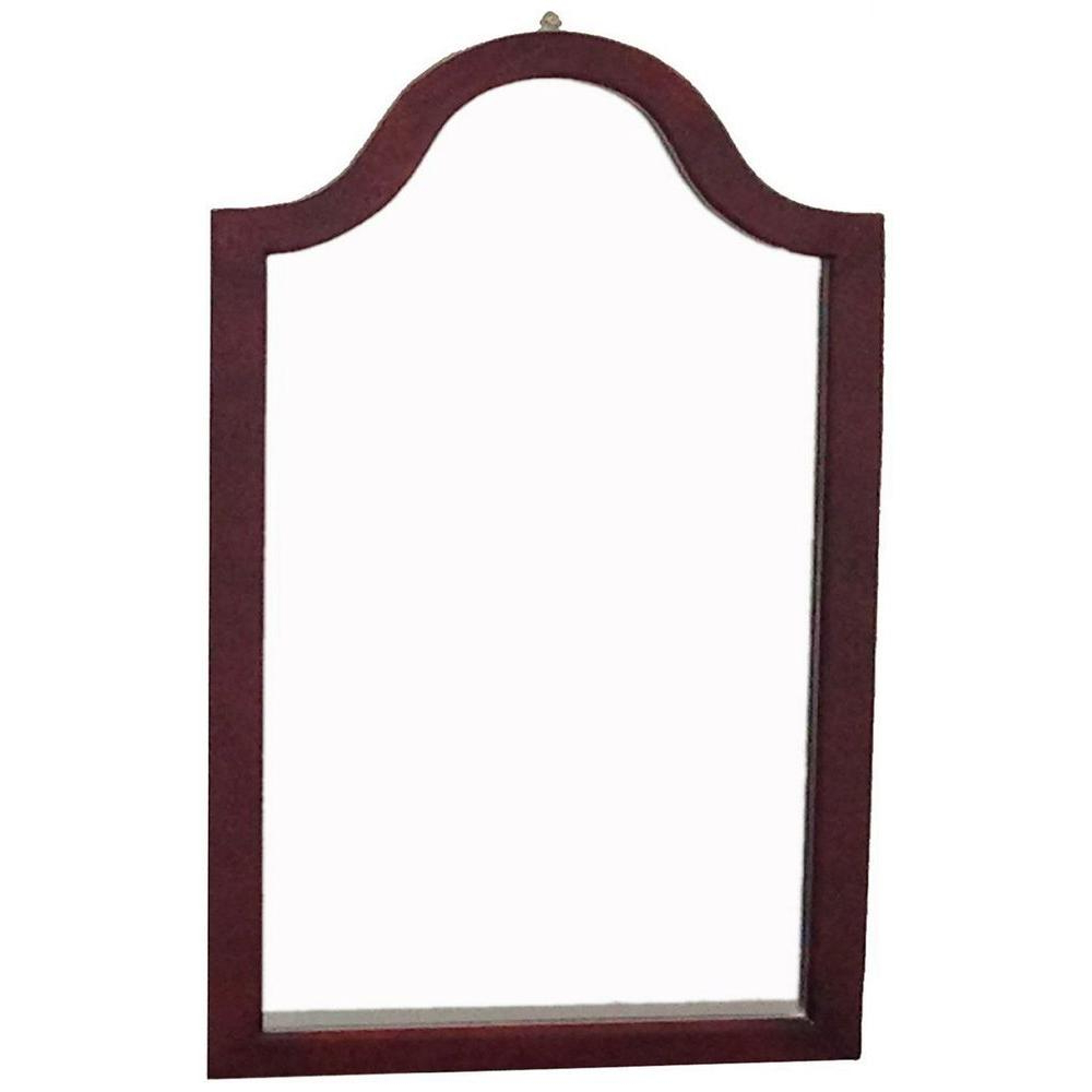 31.9 In. X 2 In. Cherry Wood Framed Wall Mirror Regarding Fashionable Cherry Wall Mirrors (Gallery 13 of 20)
