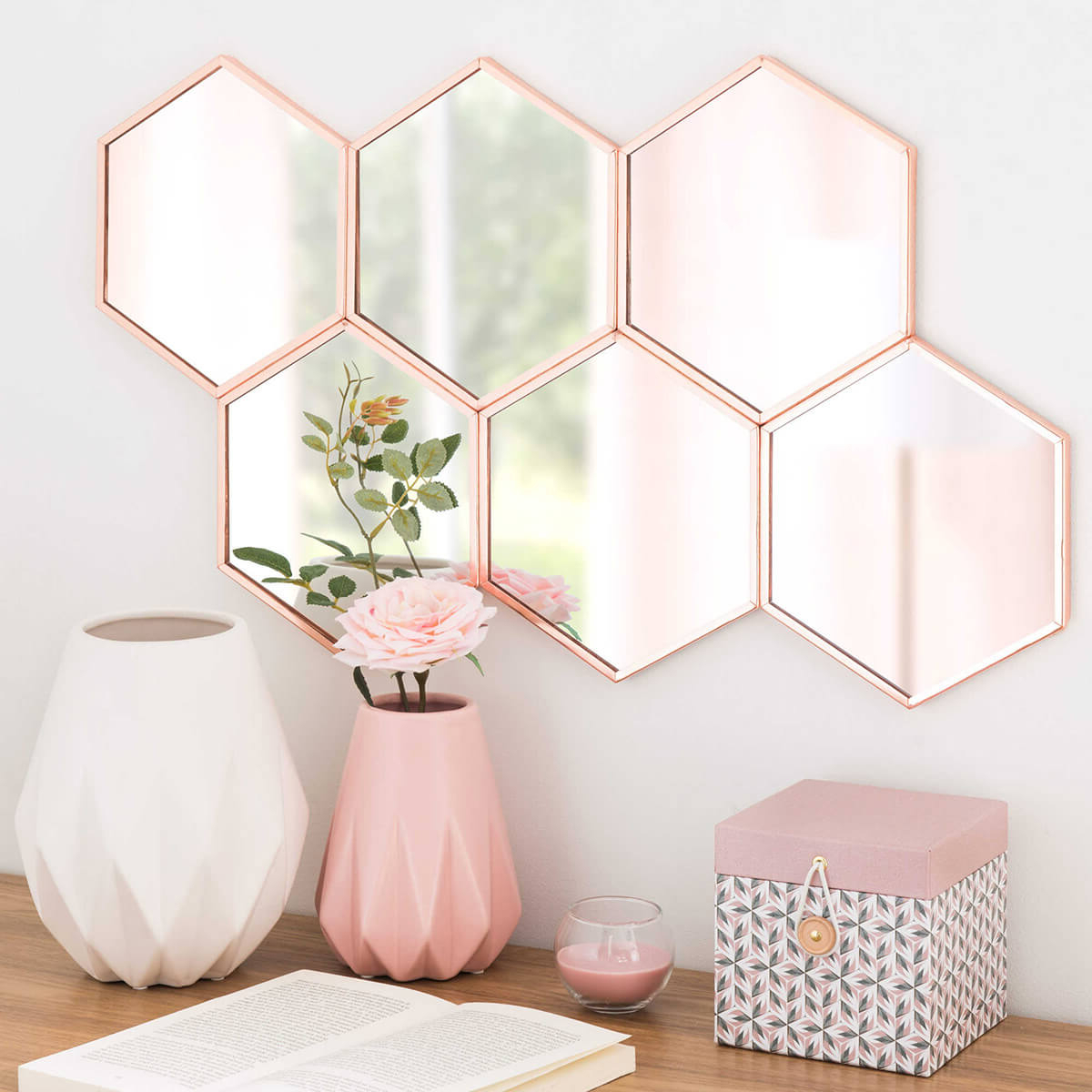 33 Best Mirror Decoration Ideas And Designs For 2019 For Most Popular Hexagon Wall Mirrors (View 12 of 20)