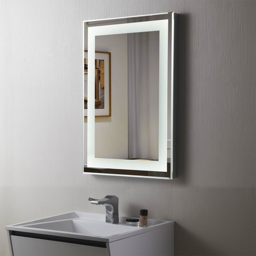 34 Most Divine Decoraport Vertical Rectangle Led Bathroom Mirror Regarding Recent Illuminated Wall Mirrors For Bathroom (View 2 of 20)