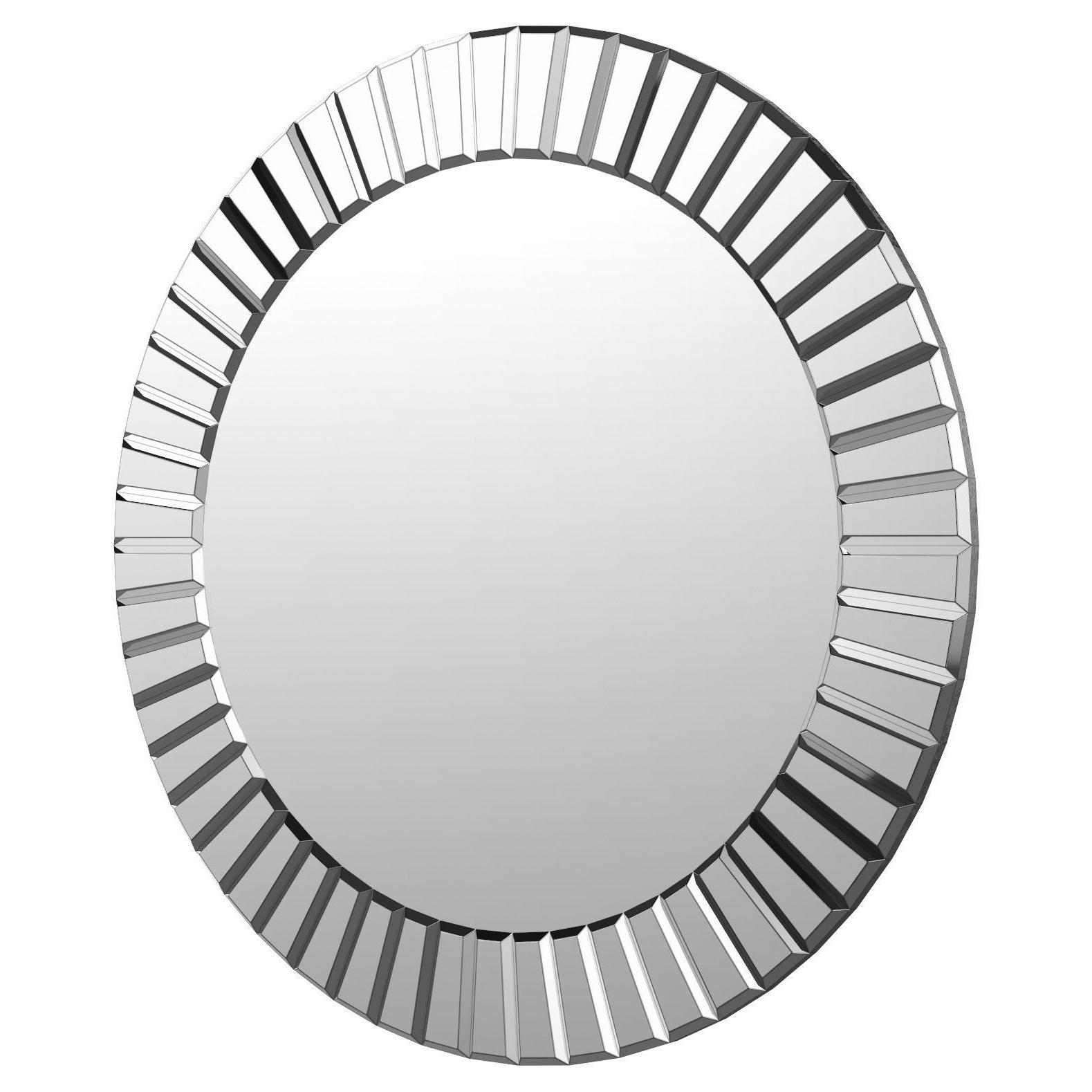 3D Model For Lidya Frameless Beveled Wall Mirrors (View 3 of 20)