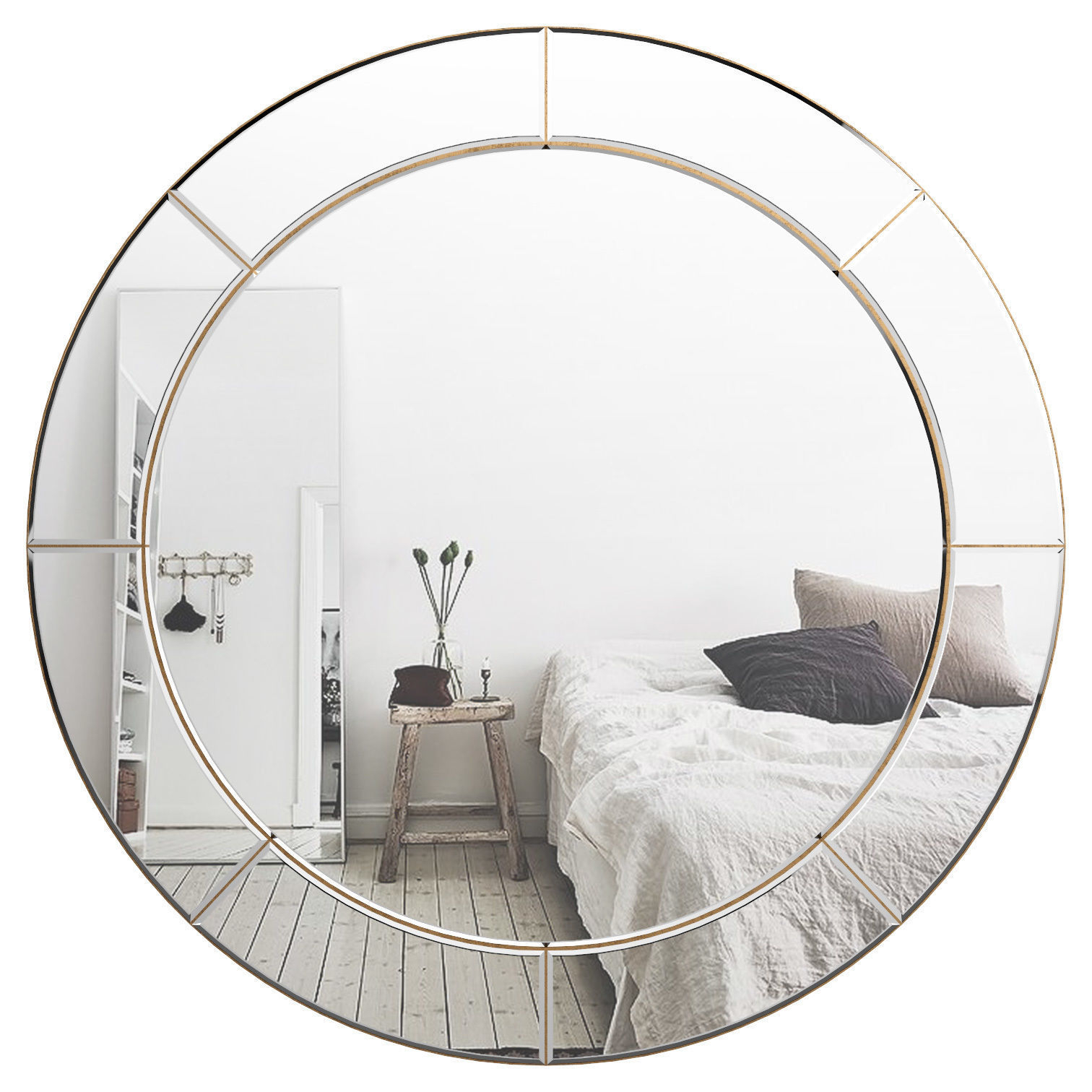 3D Model Inside Big Round Wall Mirrors (Gallery 4 of 20)