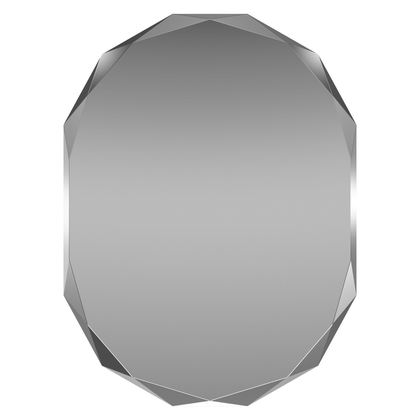 3D Model Pertaining To Traditional Frameless Diamond Wall Mirrors (View 1 of 20)