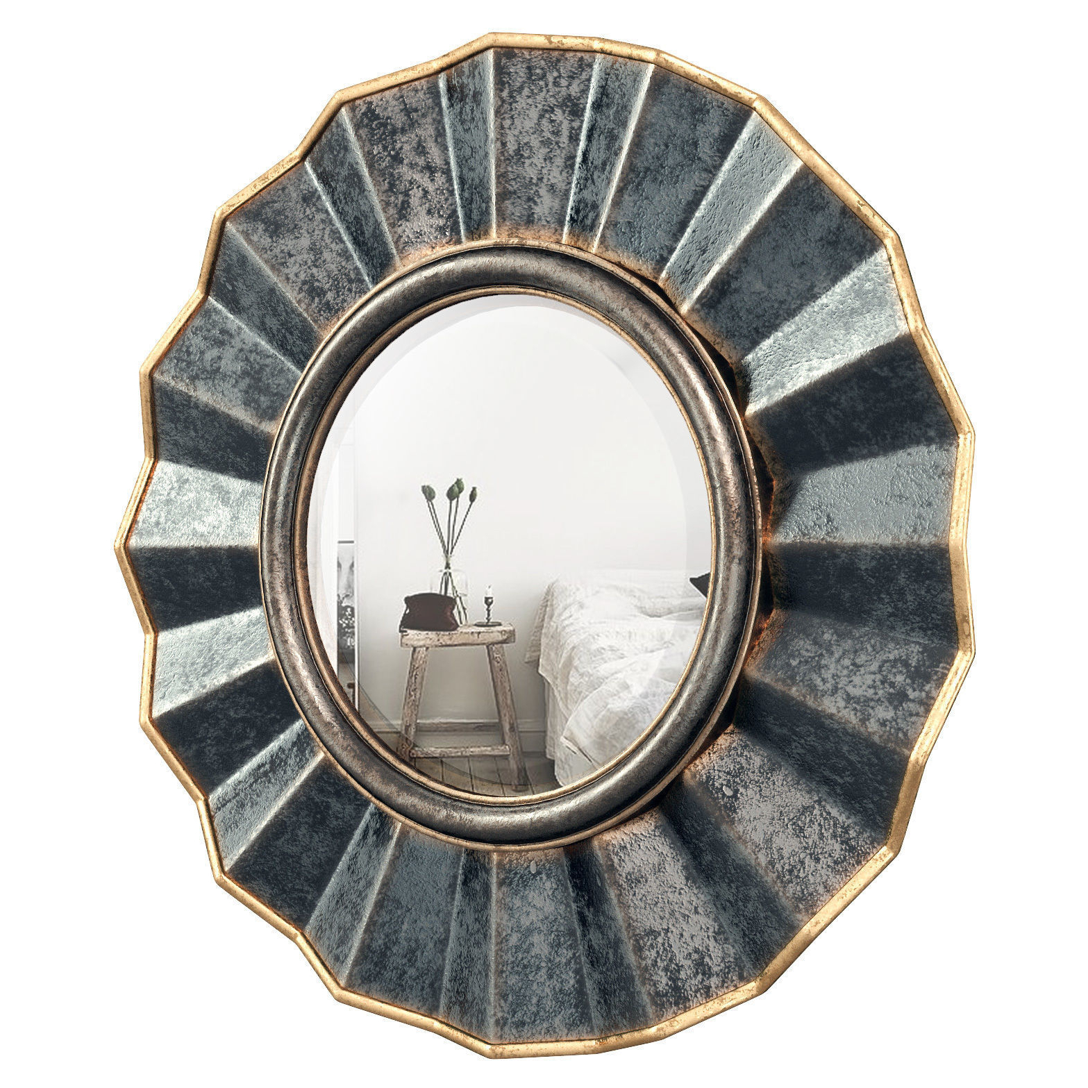 3d Model Within Vertical Round Wall Mirrors (View 6 of 20)