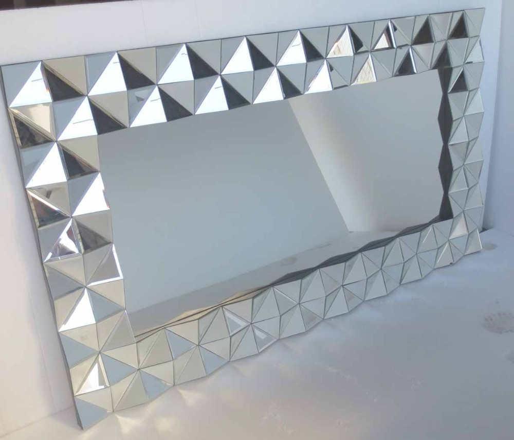 3D Modern Large Wall Mirror Mr 2D0130 In Decorative Mirrors From Inside Well Known Modern Large Wall Mirrors (View 3 of 20)