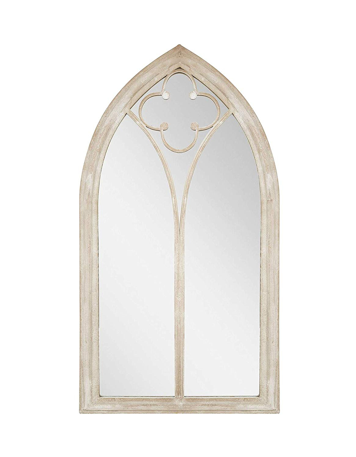 3Ft 5In X 1Ft 10In Stone Effect Steel Church Window Wall Mirror Inside Widely Used Marion Wall Mirrors (View 2 of 20)