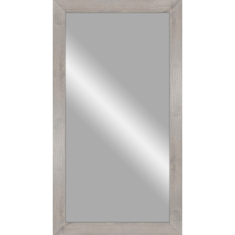 48 In L X 24 In W Rustic Gray Wood Polished Wall Mirror At Lowes With Recent Gray Wall Mirrors (View 14 of 20)