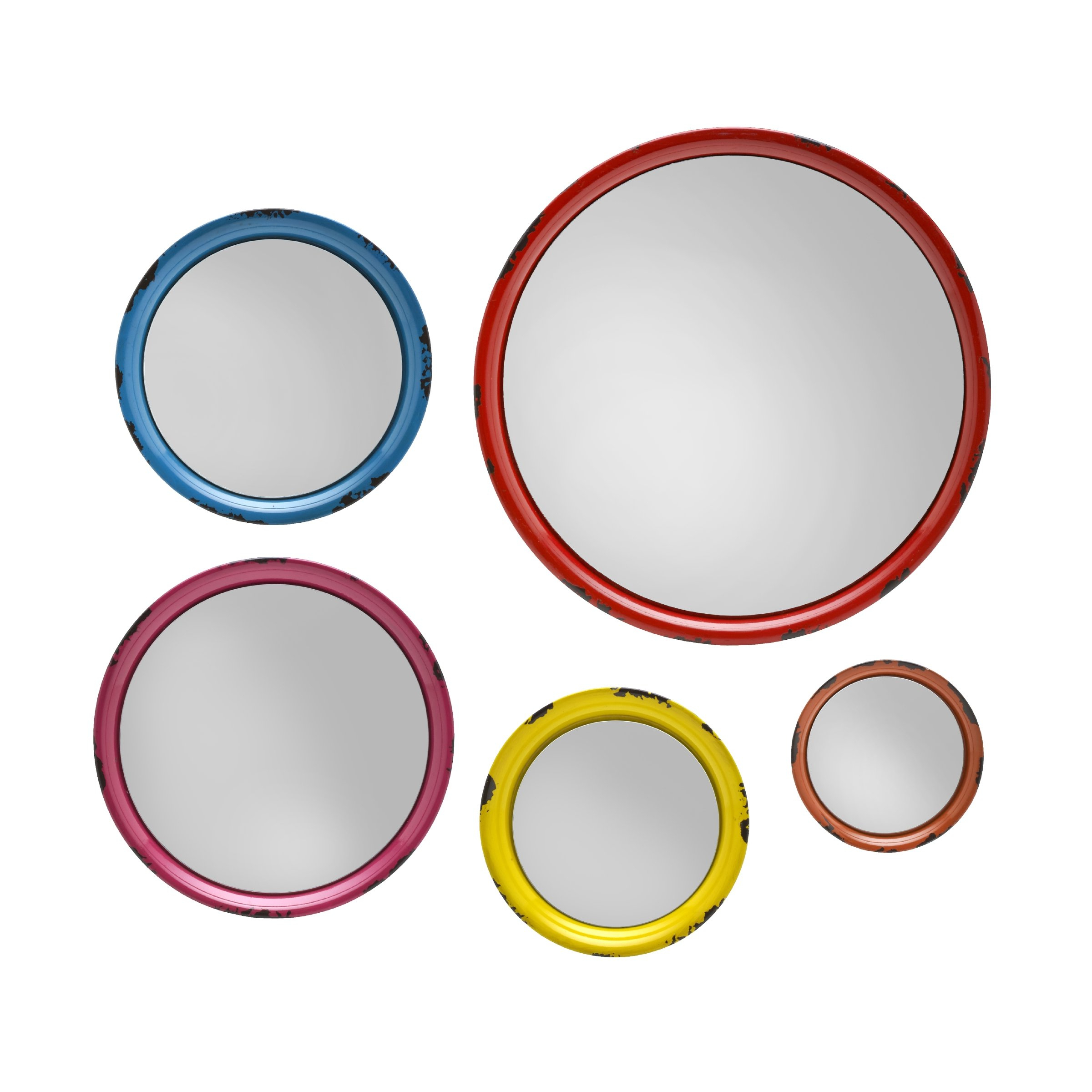 5 Piece Round Wall Mirror Set Regarding Most Recently Released Carstens Sunburst Leaves Wall Mirrors (View 19 of 20)
