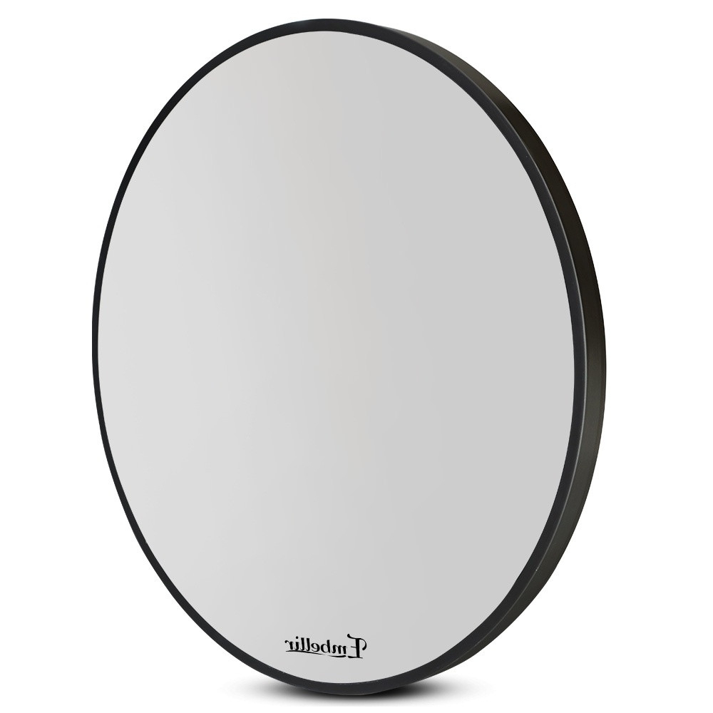 60Cm Frameless Round Wall Mirror Pertaining To Most Recent Frameless Round Wall Mirrors (View 3 of 20)