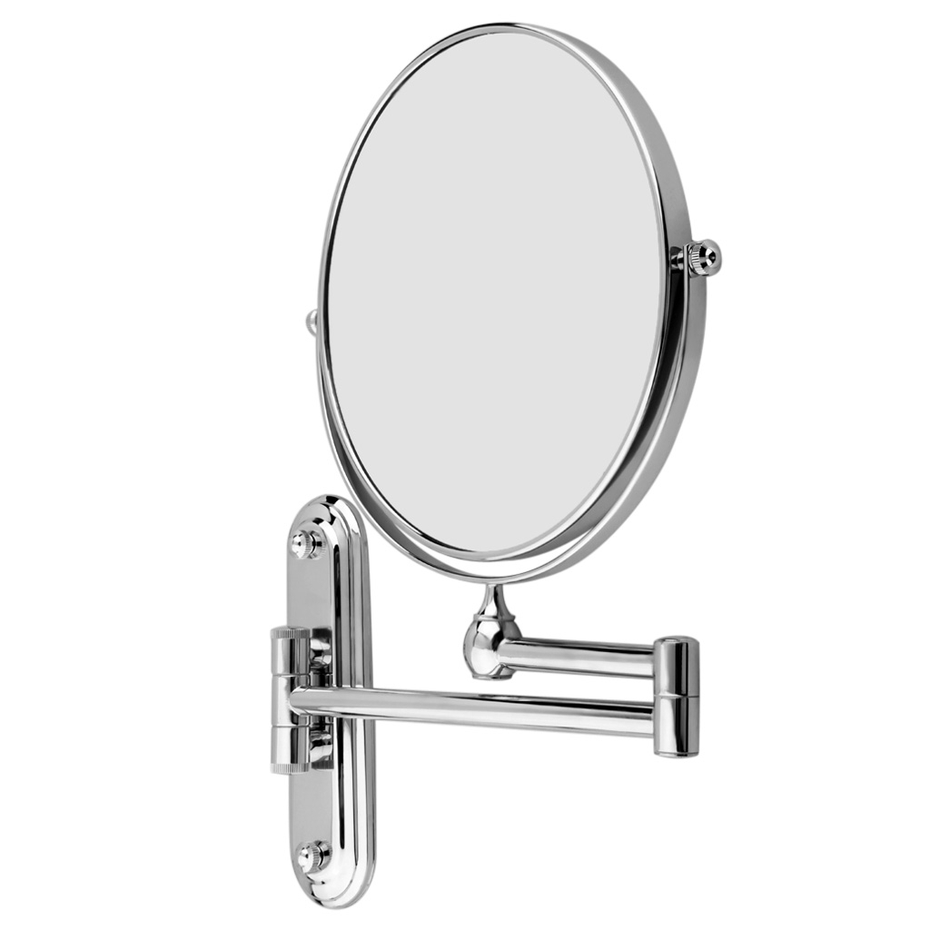 8 Inch 10X Magnification Wall Mounted Makeup Mirror Extending Folding  Double Side Bathroom Mirror Pertaining To Most Up To Date Adjustable Wall Mirrors (Gallery 20 of 20)