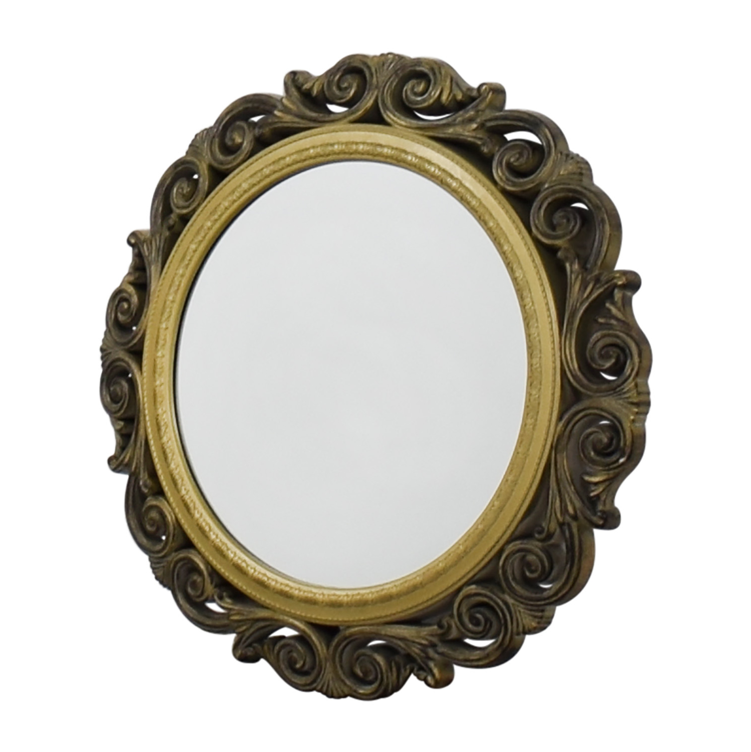 [%80% Off – Gold Scrolled Frame Round Wall Mirror / Decor With Popular Frames For Wall Mirrors|frames For Wall Mirrors Within Most Recently Released 80% Off – Gold Scrolled Frame Round Wall Mirror / Decor|recent Frames For Wall Mirrors Inside 80% Off – Gold Scrolled Frame Round Wall Mirror / Decor|fashionable 80% Off – Gold Scrolled Frame Round Wall Mirror / Decor For Frames For Wall Mirrors%] (View 7 of 20)