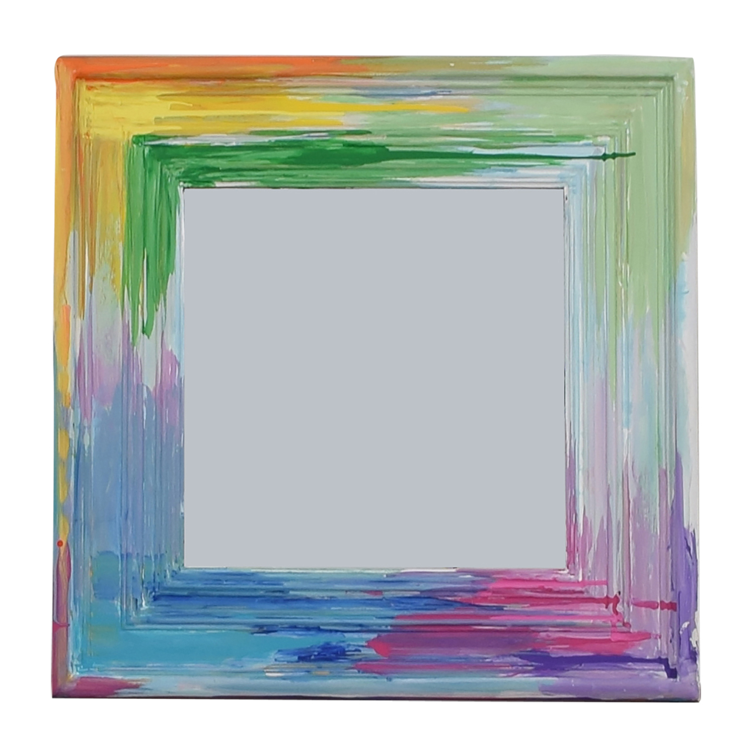 [%84% Off – Rainbow Painted Square Wall Mirror / Decor Intended For Popular Painted Wall Mirrors|Painted Wall Mirrors Inside 2019 84% Off – Rainbow Painted Square Wall Mirror / Decor|Preferred Painted Wall Mirrors Pertaining To 84% Off – Rainbow Painted Square Wall Mirror / Decor|Favorite 84% Off – Rainbow Painted Square Wall Mirror / Decor In Painted Wall Mirrors%] (View 1 of 20)