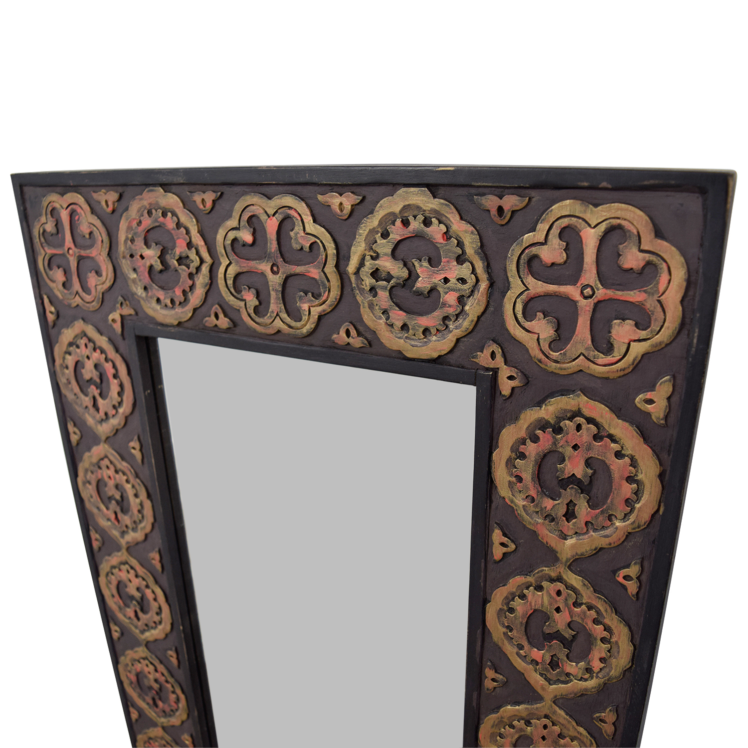 [%90% Off – Pier 1 Pier One Imports Mirror With Rustic Gold Emblemed Frame / Decor In Recent Pier One Wall Mirrors|Pier One Wall Mirrors Pertaining To Most Up To Date 90% Off – Pier 1 Pier One Imports Mirror With Rustic Gold Emblemed Frame / Decor|Best And Newest Pier One Wall Mirrors Inside 90% Off – Pier 1 Pier One Imports Mirror With Rustic Gold Emblemed Frame / Decor|2020 90% Off – Pier 1 Pier One Imports Mirror With Rustic Gold Emblemed Frame / Decor Pertaining To Pier One Wall Mirrors%] (View 7 of 20)